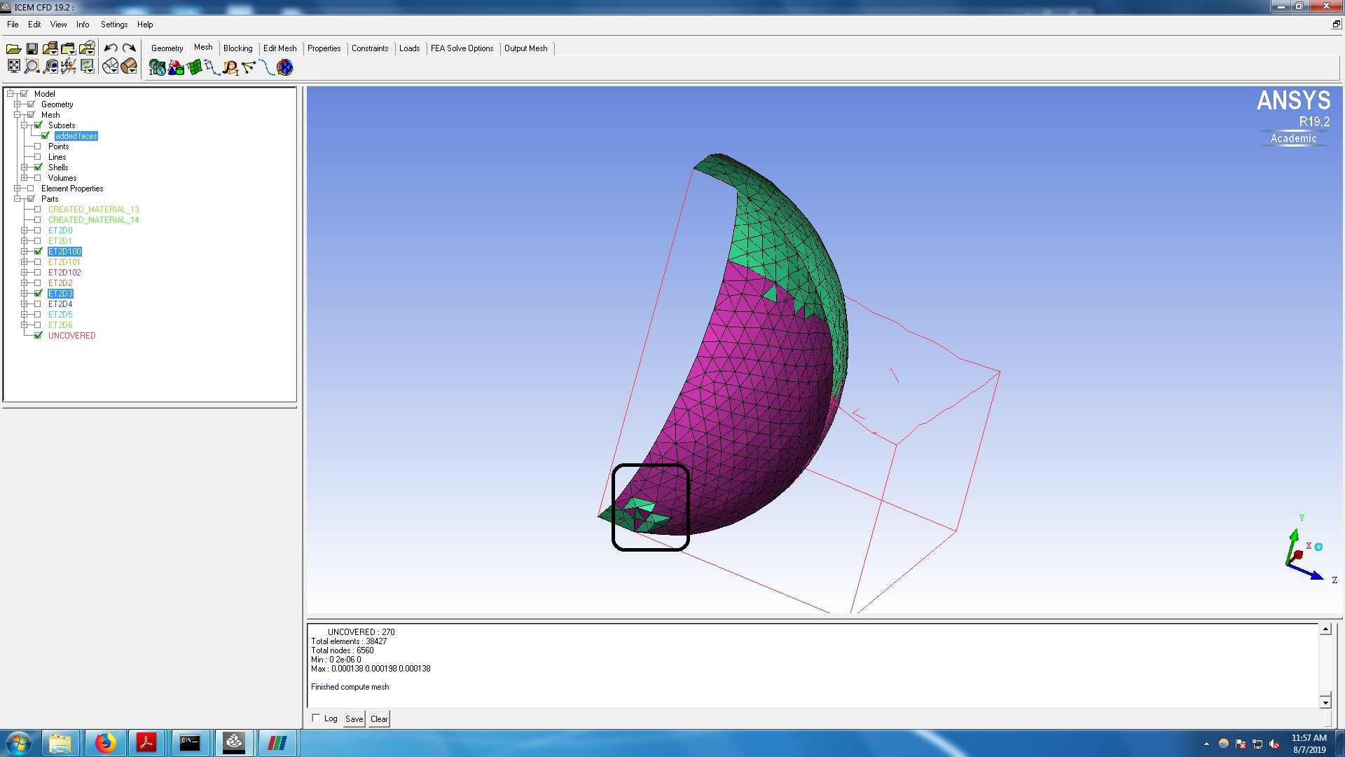 How to export domain from paraview to ANSYS or any meshing