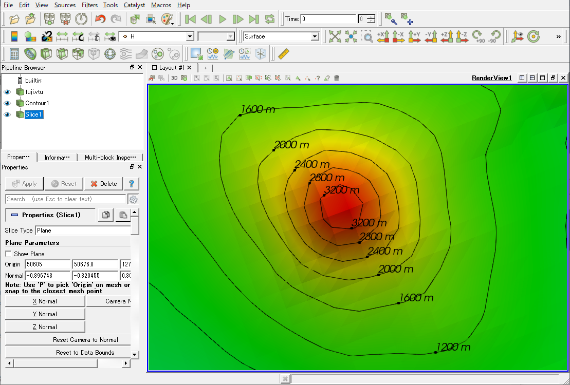Is it possible to add labels to contour lines? - ParaView